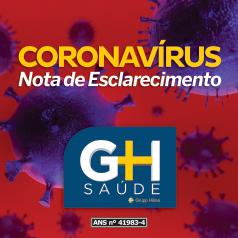 CORONAVÍRUS – NOTA DE ESCLARECIMENTO